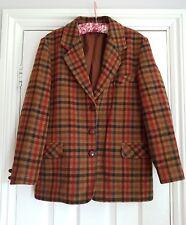 vintage wool tweed check  blazer jacket 10