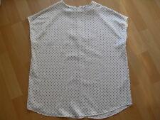 Esprit sehr süße Bluse Gr. 32 / XS weiß mit schwarzen Punkten * wie NEU *