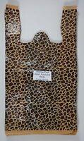 "Leopard Print Design Plastic T-Shirt Retail Shopping Bags Handles 11.5"" x6"" x21"""