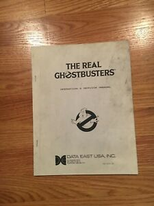 The Real Ghostbusters Arcade Game Operation & Service Manual, Data East 1987