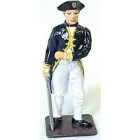 American Revolution British Naval Officer Painted Metal Britains Type FREE SHIP