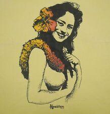 New listing Vintage 60s First Hawaiian Shirts Tank Top Woman Luau Flowers Cotton Rare