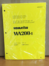 Komatsu WA200-1 Wheel Loader Shop Service Repair Manual