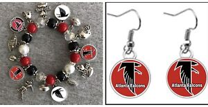 Atlanta Falcons Earring and Bracelet set