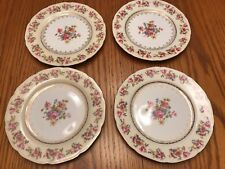"""Gold Castle China 7-1/2"""" Salad Plates Set Of 4 Made In Occupied Japan"""