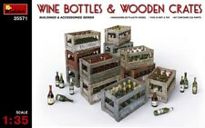 MIN35571 - Miniart 1:35 - Wine, Beer, Milk Bottles and Wooden Boxes