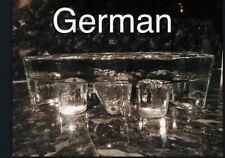 Vintage Glass Sculpture Trivet Teapot Warmer / Candle Holder Tea Lights