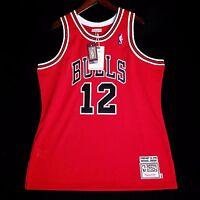 100% Authentic Michael Jordan Mitchell Ness #12 V-Day Jersey Mens Size 48 XL