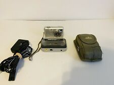 Casio EXILIM ZOOM EX-Z750 7.2MP Digital Camera - Silver W/Dock and Case