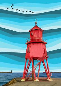 Herd Groyne Lighthouse South Shields Limited Print By Sarah Jane Holt