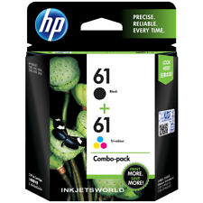 HP 61 Ink 2 Genuine Black and Tri-Color Combo Pack CH562WN CR259FN CH561WN