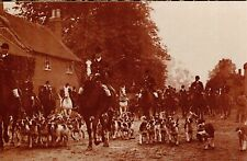 Quorn Hunt Meet 1908 Leicester.  Nostalgia Postcard Reproduction