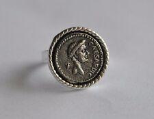 Julius Caesar Roman Republic Empire SPQR Handmade Ring Resizable Sz 8 - 11