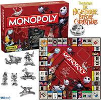 NIGHTMARE BEFORE CHRISTMAS MONOPOLY MONOPOLI JACK SKELLINGTON SKELTRON GAMES