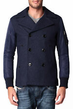DIESEL W-ASAMINO WOOL BLEND PEACOAT SIZE XXL 100% AUTHENTIC