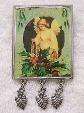 CLASSIC CHRISTMAS PIN BROOCH ANGEL HEAVEN FAITH BELIEF VICTORIAN CELESTIAL X-16