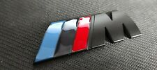 BMW M Tech Sport Front Grill Badge Matt Black Alloy New UK Stock