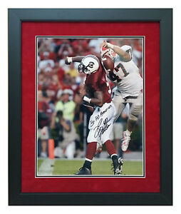 David Pollack Georgia Bulldogs Autographed Framed 16x20 Picture - SC Strip Play!