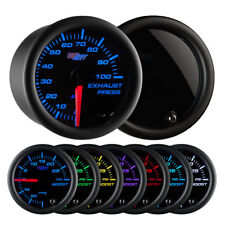 GlowShift Tinted 7 Color 100 PSI Exhaust Pressure Gauge GS-T723_100