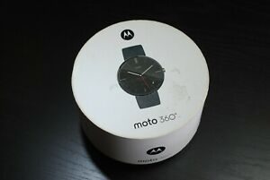 Motorola Moto 360 Sport Smart Watch Leather Band Touchscreen New Open Box