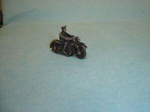 Vintage Diecast Dinky 37b Motorbike Police Motorcycle