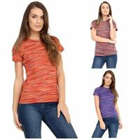 Womens Fashion Fancy Top Blouse Shirt Ladies Casual Short Sleeve Tops Size 8-22