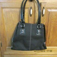 Nine Co Handbag Purse Tote Bag Black With A Textured Small Block Pattern