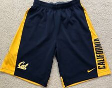Nike Cal Bears Shorts Adult Large Blue Yellow Dri Fit Basketball Mens