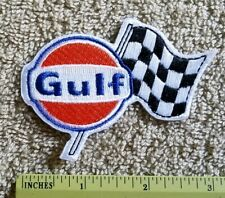 VINTAGE STYLE GULF PATCH NASCAR  INDY GAS FUEL RACING PATCH