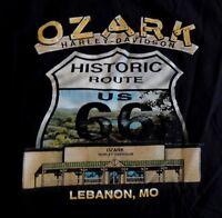 Harley Davidson HD Stratman Ozark Lebanon MO T-Shirt Large Black Mens 2002 USA