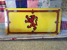 SCOTLAND-RAMPANT-LION-FLAG-METAL-NOVELTY-LICENSE-PLATE-