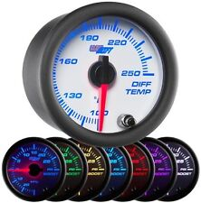 GLOWSHIFT 52mm WHITE 7 COLOR REAR DIFFERENTIAL DIFF TEMPERATURE GAUGE - GS-W722