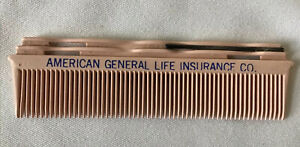 American General Life Insurance Co. advertising pink hair comb bobby pin Vintage