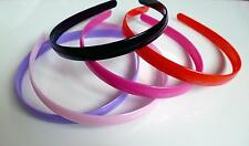 14mm wide plain plastic headband / aliceband, 5 fab colour options *Slight 2nds*