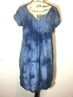 Graham & Spencer Tie Dye T-Shirt Dress Size M Blue Lined