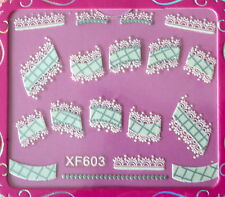 Nail art stickers bijoux d'ongles: Décorations effet dentelle design