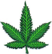 Pot leaf marijuana boho hippie retro weed applique iron-on patch new Small S-389