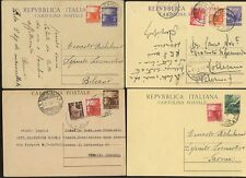 ITALY 1947-49 STATIONERY RECONSTRUCTION...4 ITEMS UPRATED