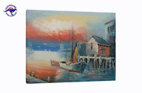 (NO FRAME) LARGE CANVAS WALL ART SEASCAPE OIL PAINTING MODERN DECOR HAND PAINTED