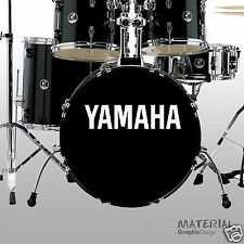 2x Yamaha Logo Sticker Decal - fork bass drum Head Drums kit Percussion Skin OG