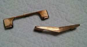 Vintage Mid Century Atomic Boomerang 1950s Copper Color Pull Handle, Each