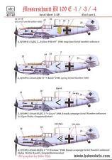 Hungarian Aero Decals 1/48 MESSERSCHMITT Bf-109E German WWII Fighter