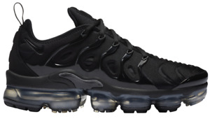NIKE AIR VAPORMAX PLUS TRIPLE BLACK WOMEN'S SIZES 6-11 NEW WITH TAGS
