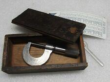 New Listingvintage Ls Starrett No 209 C Micrometer Original Wood Case Wrench Amp Chart