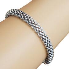 Damen Armband Edelstahl Schlangenarmband Armkette leicht 18,5 cm 8 mm silber