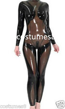100%Latex Rubber Gray smoke and Black Catsuit Stylish Tights Suit Size XS-XXL