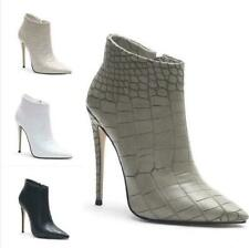Ladies Stilettos High Heels Ankle Boots Party Shoes Stone Print Runway Party New