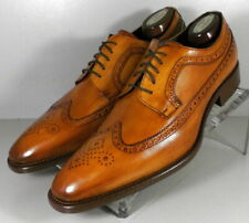 242010 SPi60 Men's Shoes Size 9 M Tan Leather Made in Italy Johnston & Murphy