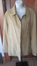 Calderoni Giubbino Cotone [Skin] Tex Men's Suede Leather Jacket Size 52/52R