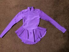 Girls Purple Ice Skating Dress Size 6X/7 Mondor VGUC